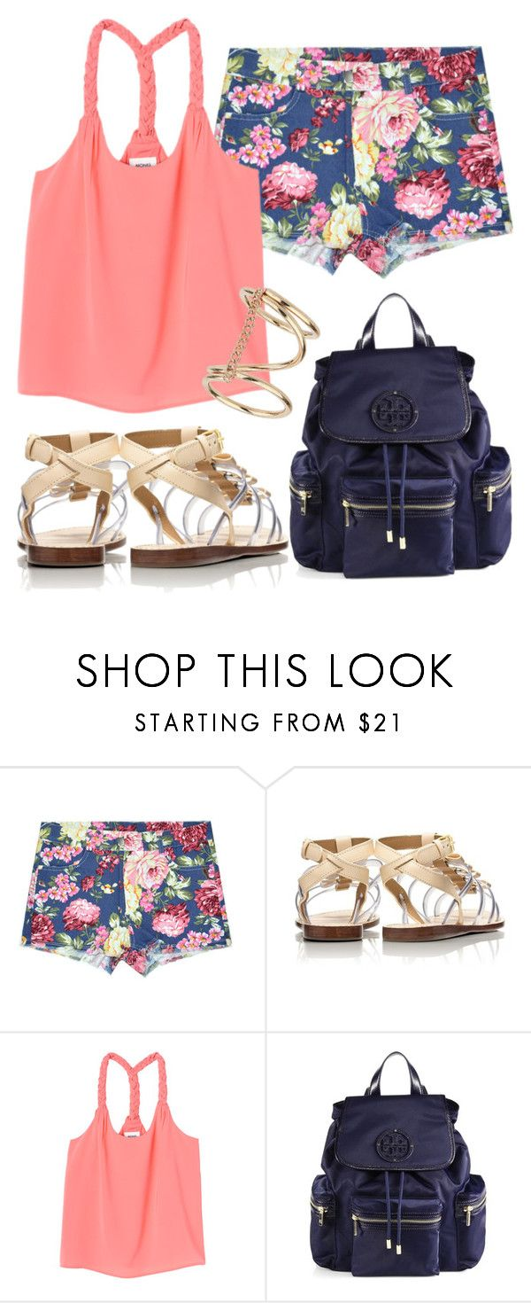 """""""Untitled #855"""" by helenaki65 ❤ liked on Polyvore featuring Tory Burch, Monki and Topshop"""