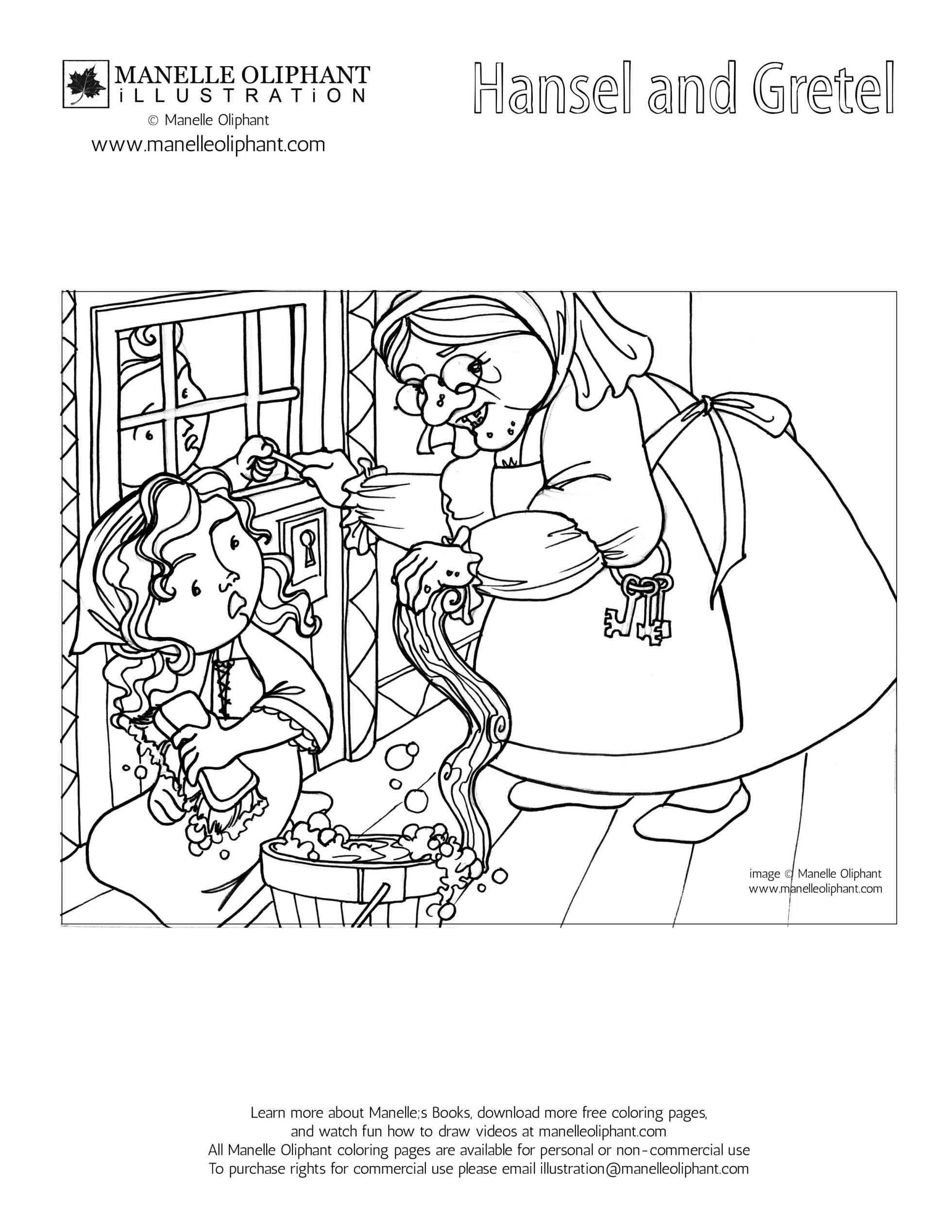 Free Coloring Page Friday: Hansel and Gretel