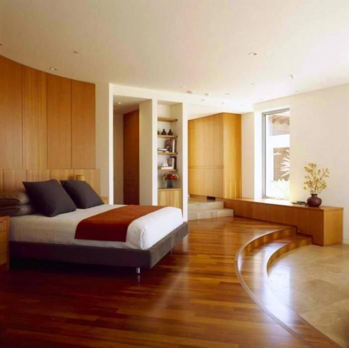 15 amazing bedroom designs with wood flooring rilane for Floor ideas for bedroom