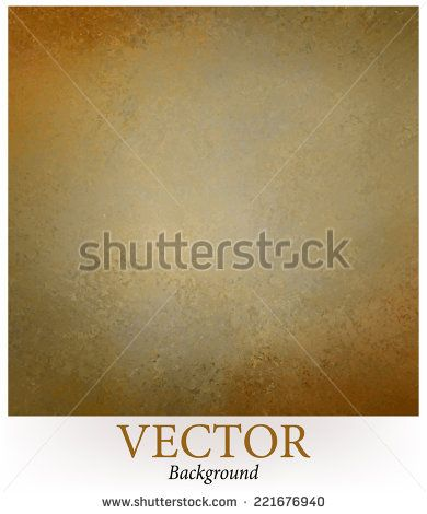 Elegant Dull Gold Brown Background Texture Vector Old Paper Faint Rustic Grunge Border Paint Design Distressed Wall