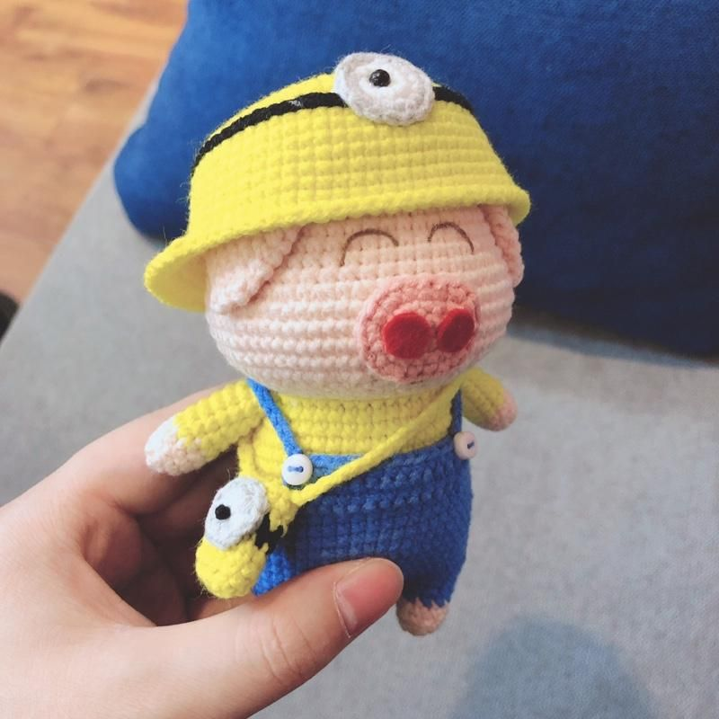 Shereo's crochet pattern of Anime Piggies dolls Series---Superman, Minion, SpongeBob Piggies #minioncrochetpatterns
