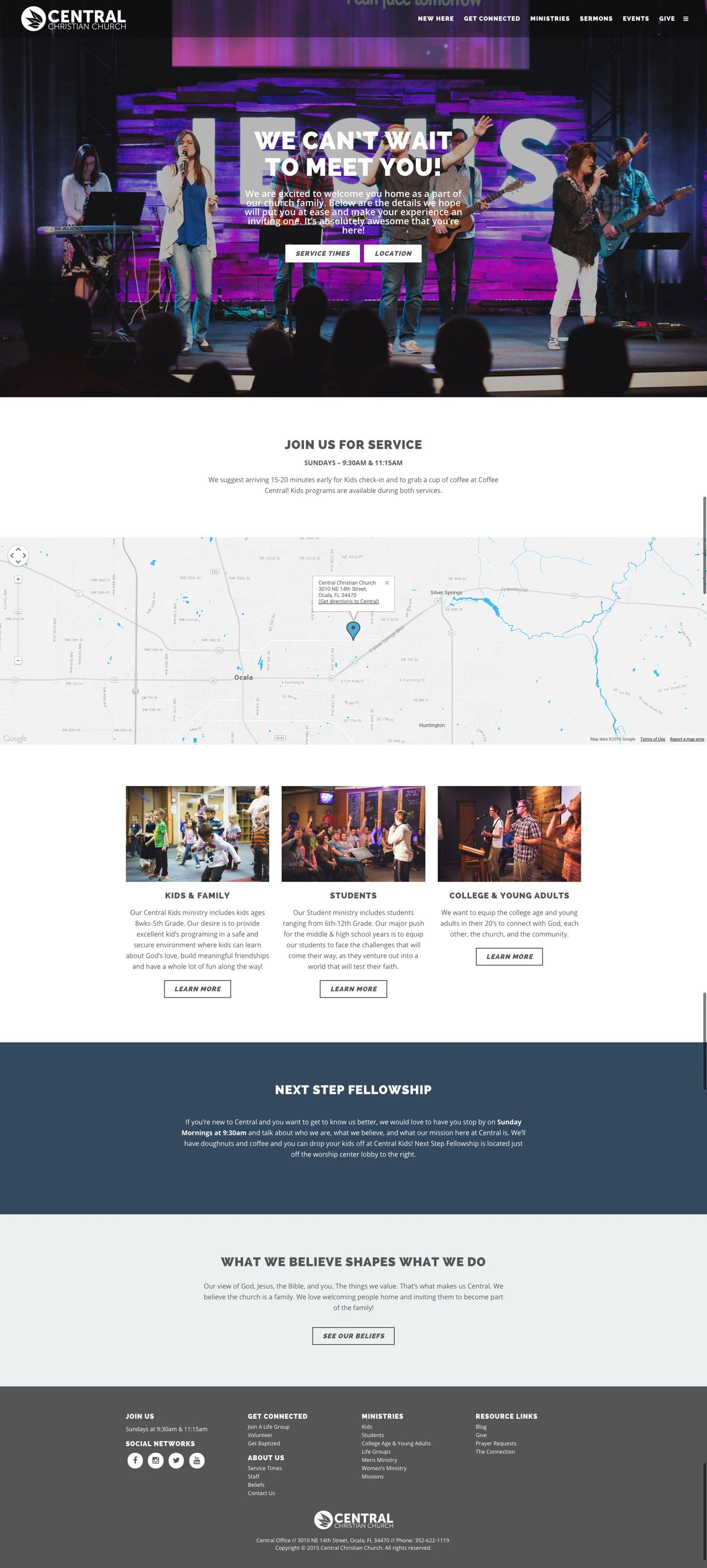 New Here Church Website Design Ideas Central Christian Church Ocala Fl Centralc Church Website Design Website Design Inspiration Web Design Inspiration