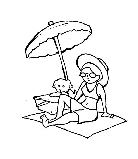 6 Coloring Pages Beach Umbrella | Coloring Pages | Pinterest | Free ...