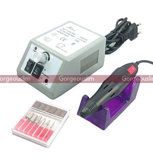 Electric Nail File Drill Acrylic Nail Art Manicure Pedicure Machine ...