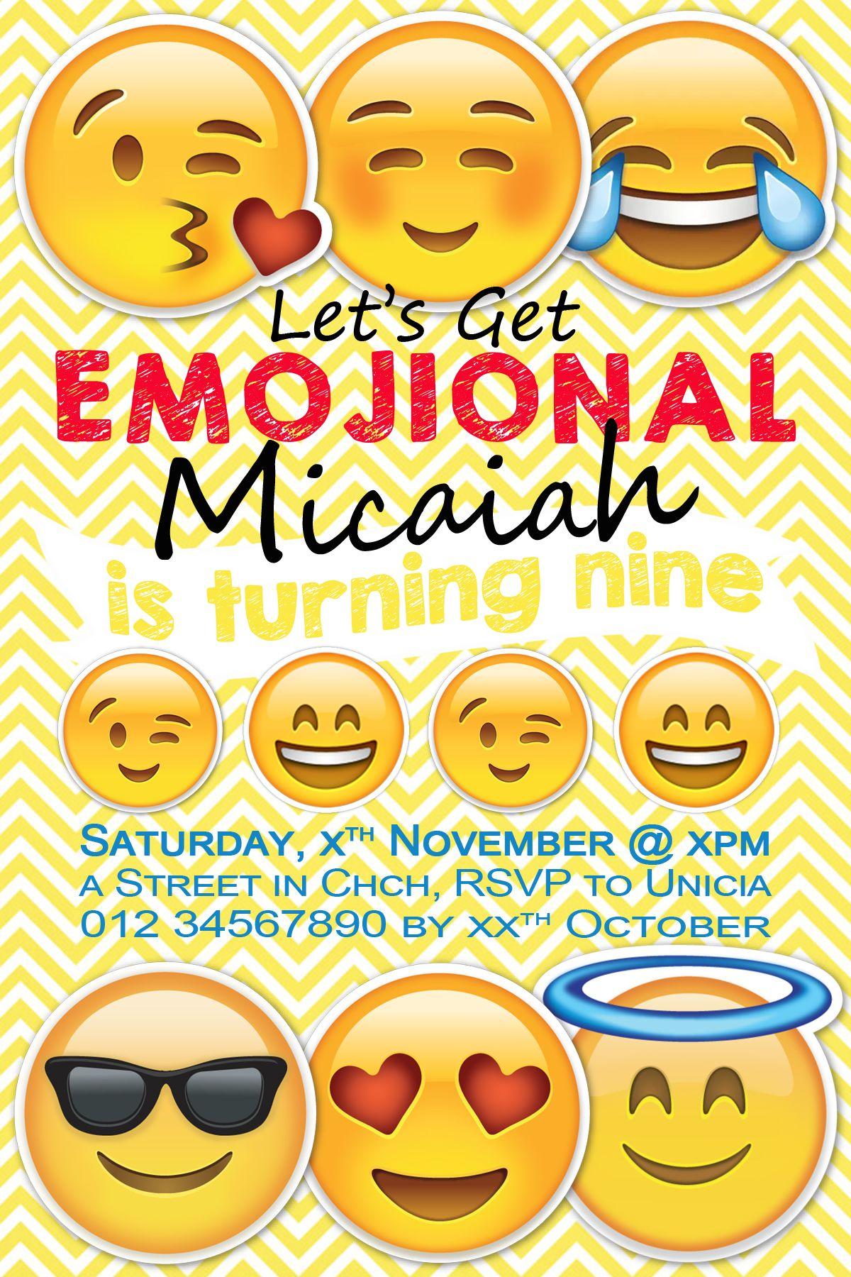 Emoji Inspired Invitation by Meghilys on Etsy Emoji Invite, emoji ...