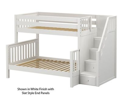 Maxtrix Sumo Twin Over Full Bunk Bed With Stairs Bed Frames