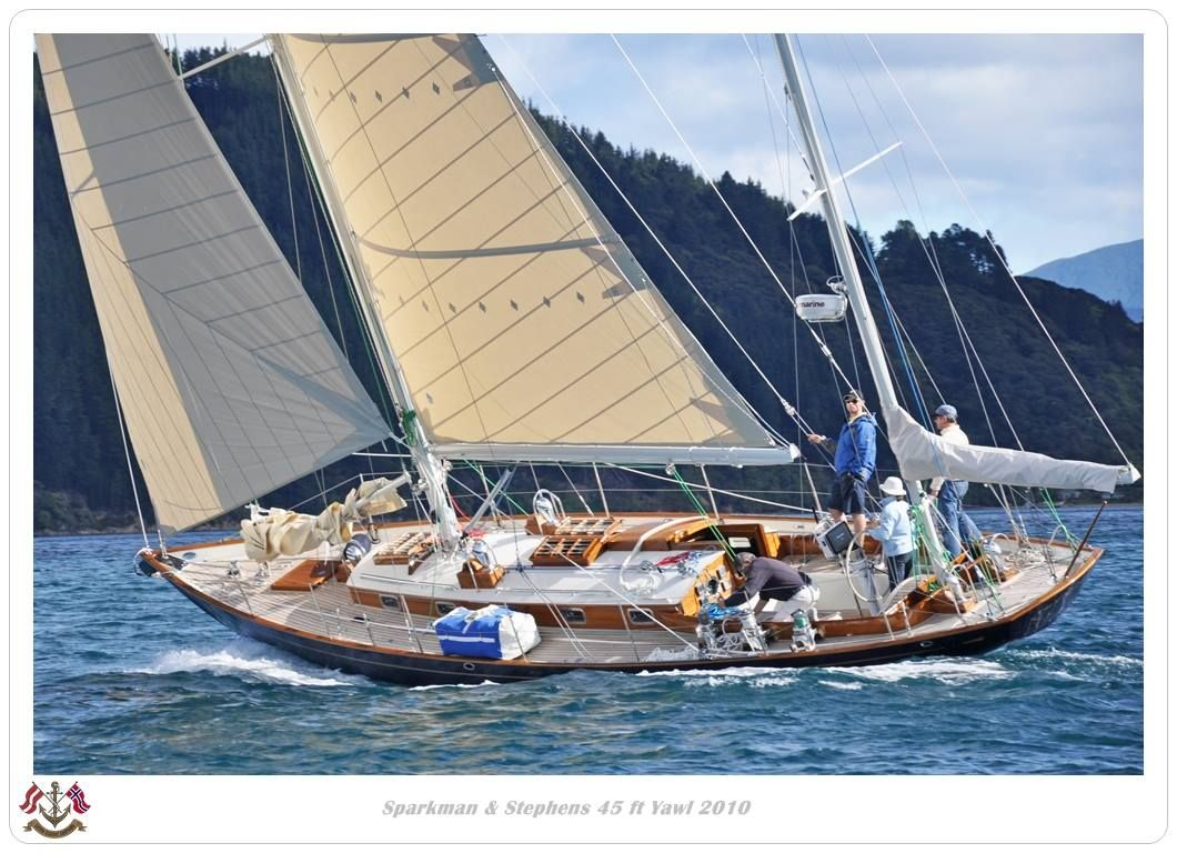Sparkman and Stephens 45 ft  Yawl | Sailboats Beautiful in