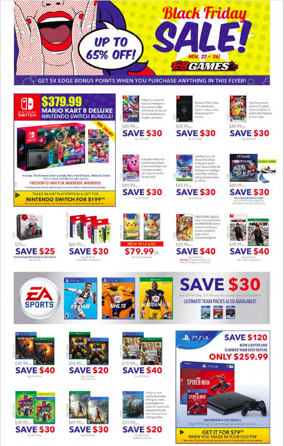 Eb Games Cyber Monday 2019 Sale Check Out Best Deals And Offers Black Friday Games Black Friday Cyber Monday 2019