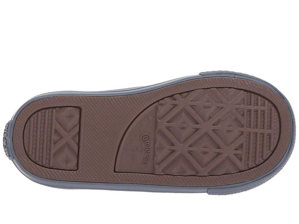 8d6f92247fda Converse Kids Chuck Taylor All Star Leather + Thermal - Hi (Infant Toddler)  Boys Shoes Black Black Sharkskin