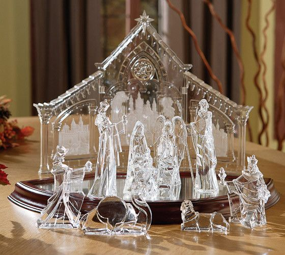 Lighted Crystal Nativity Nativity Set Nativity Scene Christmas Nativity Scene