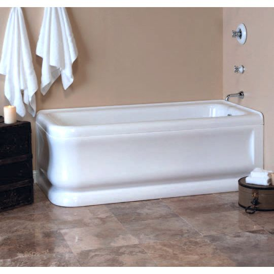 Strom Plumbing Cypress 70 Inch Acrylic Corner Tub With Right Hand Drain