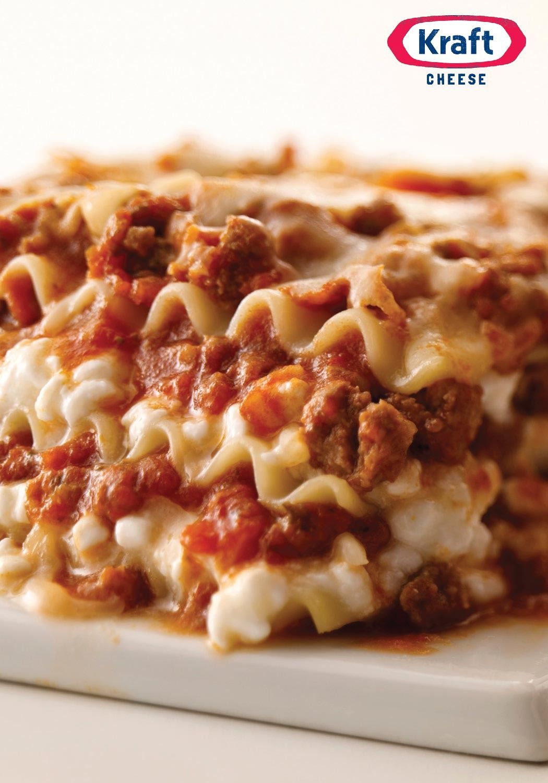 Betterthanever cheesy meat lasagna recipe kraft