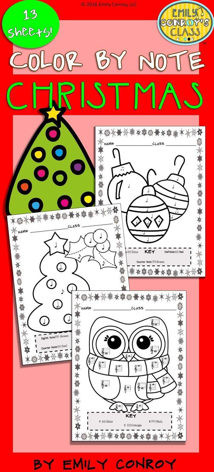 Music Coloring Sheets Christmas Color By Note music