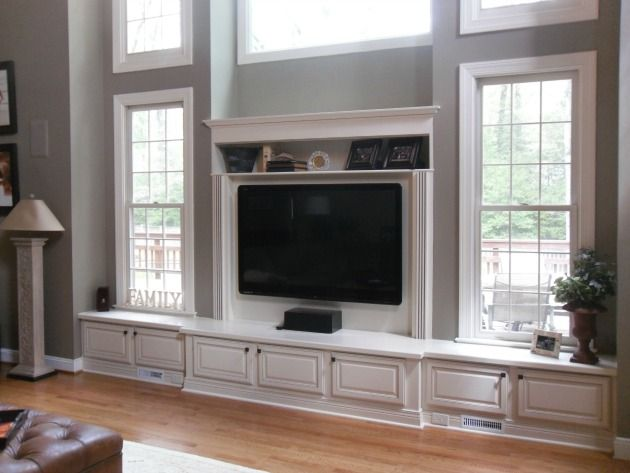 Built In Entertainment Center Around The Windows Built In