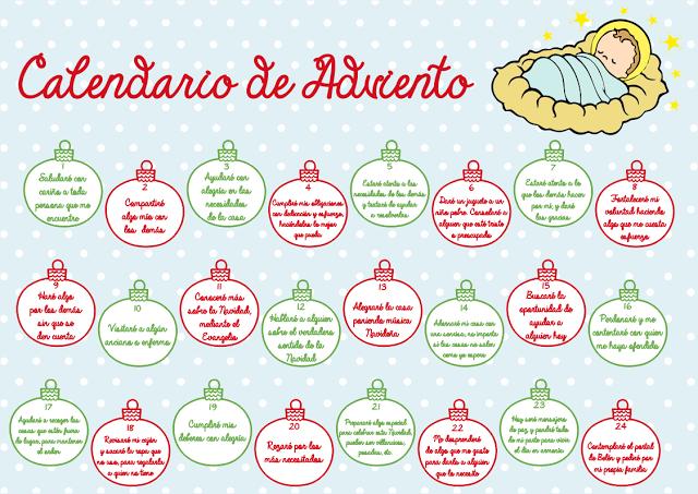 Calendario De Adviento Imprimible Gratuíto Calendario De