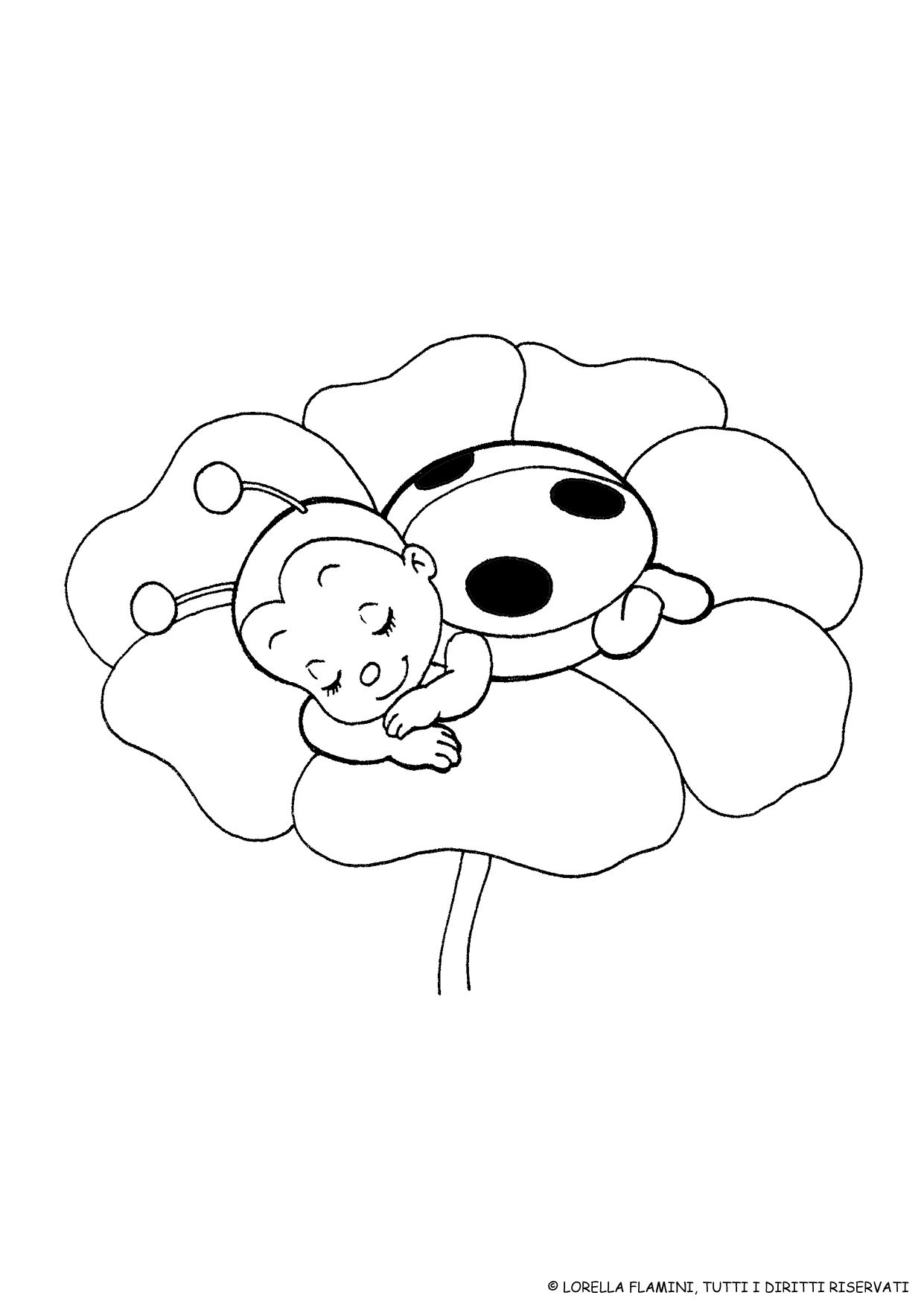 Pin By Mimi On Spring Ladybug Coloring Page Flower Coloring