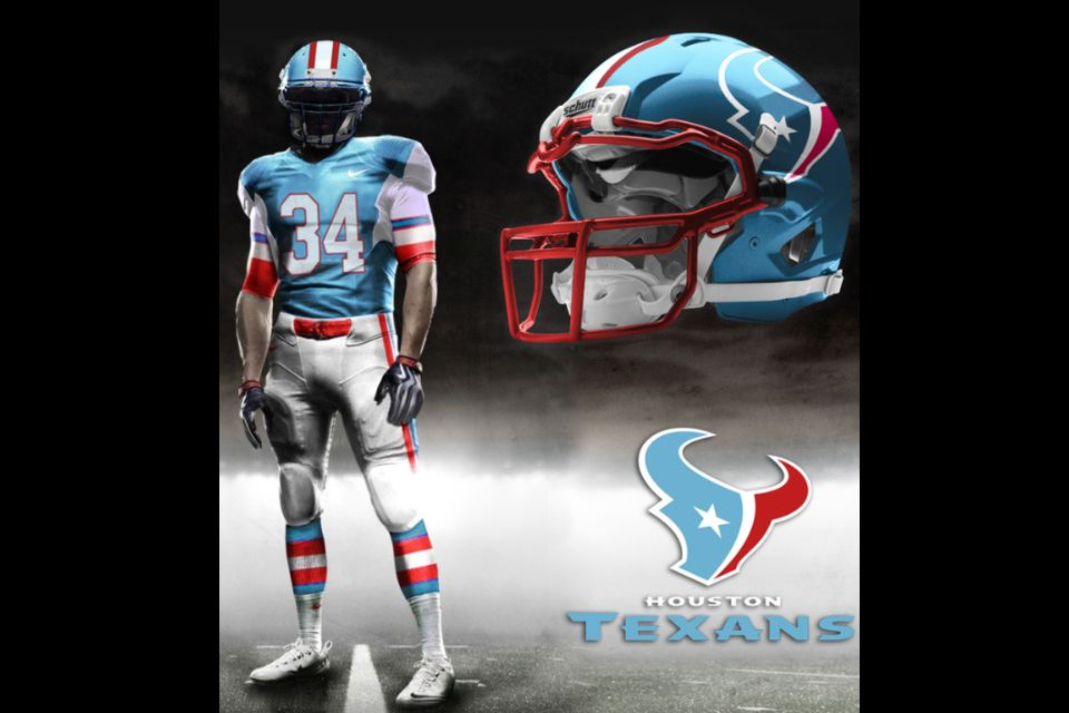 Texans In Oilers Colors Cool Texans Football Texans Houston Texans Football