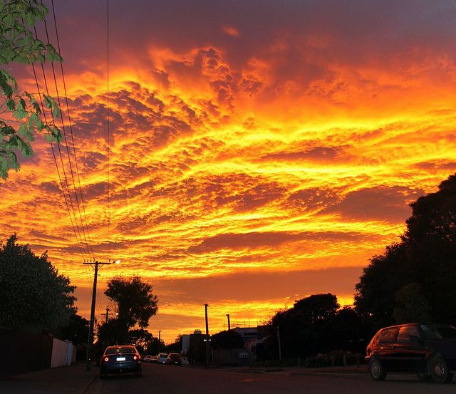 Sunrise over Christchurch