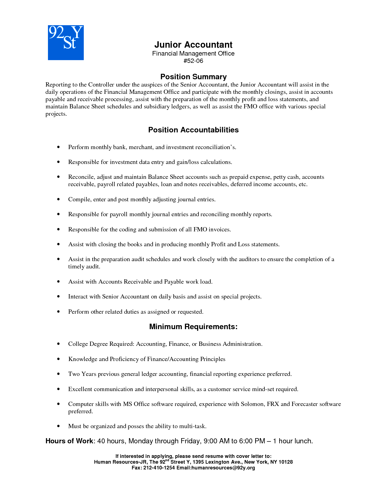 Resume Examples For 92Y ResumeExamples