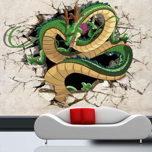 3d dragon photo wallpaper dragon ball wallpaper custom for Dragon ball z bedroom