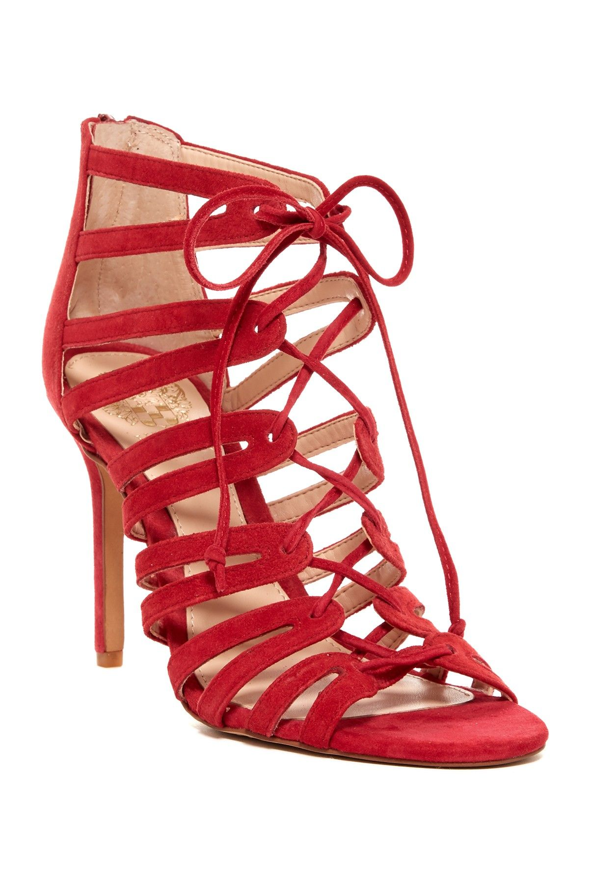 5a5072d1f58f Stand out in these sexy red Vince Camuto Zayna Strappy Heeled Sandals