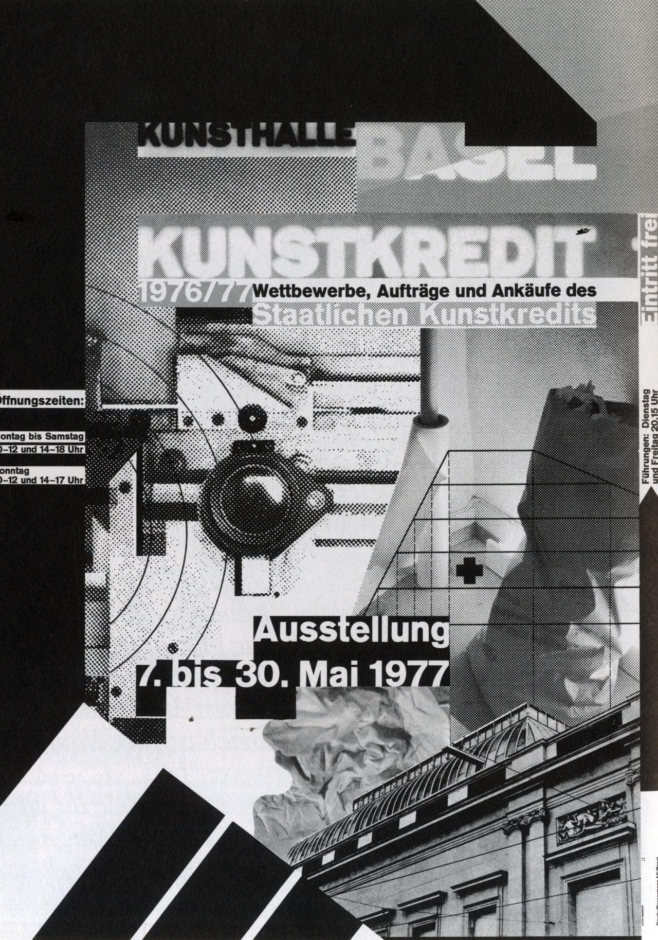 Poster design history -  Kunstkredit Basel Worldformat Poster For Kunsthalle Basel Film Layering 1977 Designer Wolfgang Weingart First Worldformat Poster
