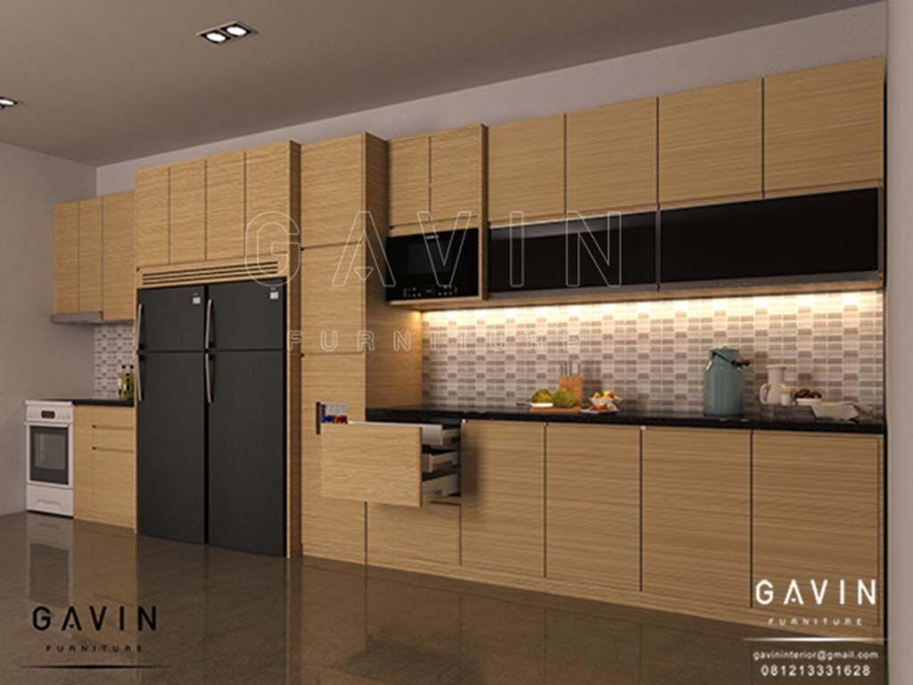 Kitchen set mutiara atas 2 pintu kaca