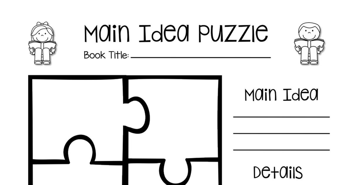 LA 8 LA 13 LA 21 Main Idea Puzzle printable (With images