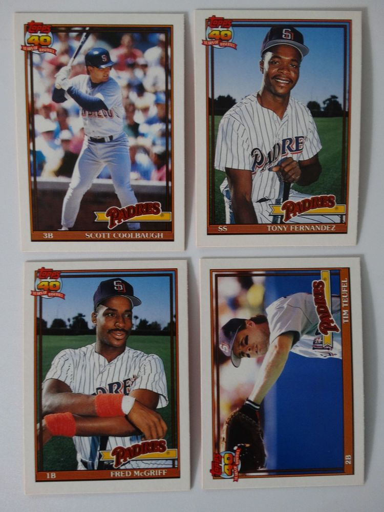 Details about 1991 Topps Traded San Diego Padres Team Set