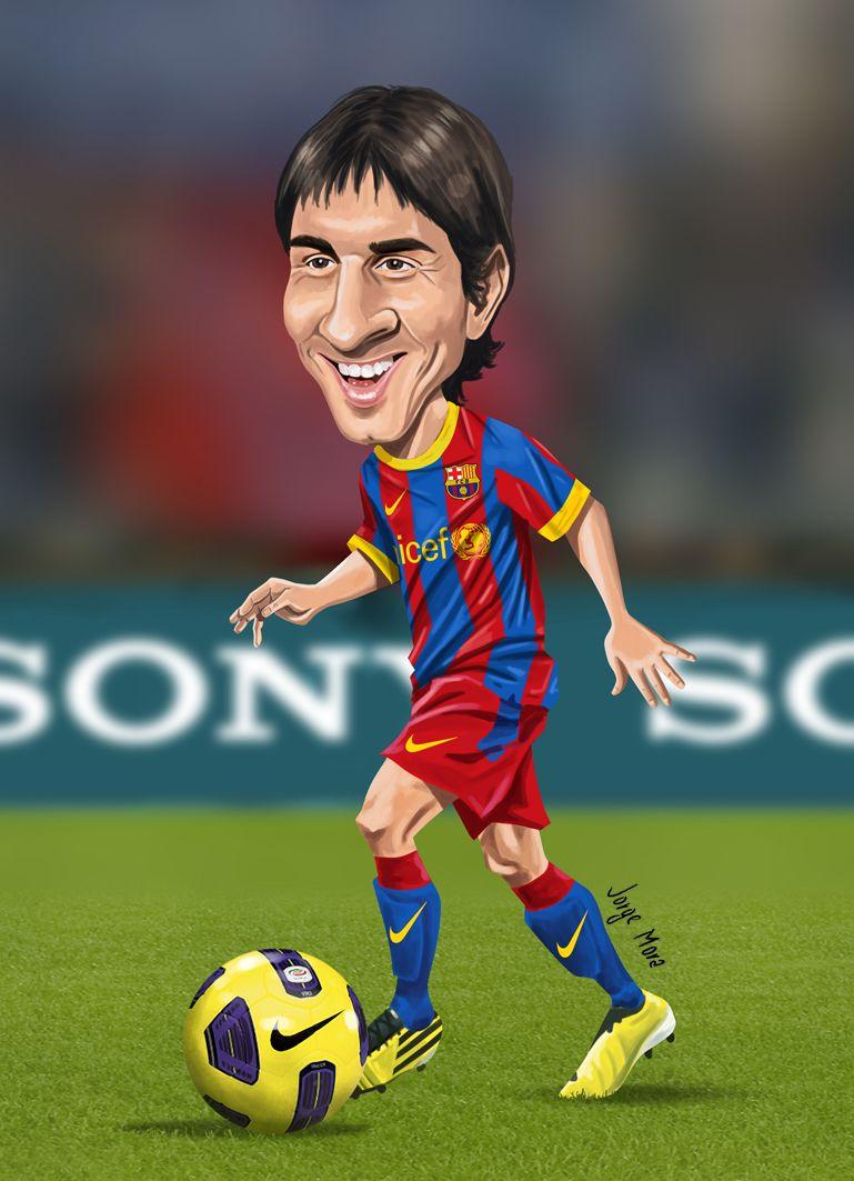 Messi 10  Caricaturas Ftbol  Pinterest  Messi 10 and Caricatures
