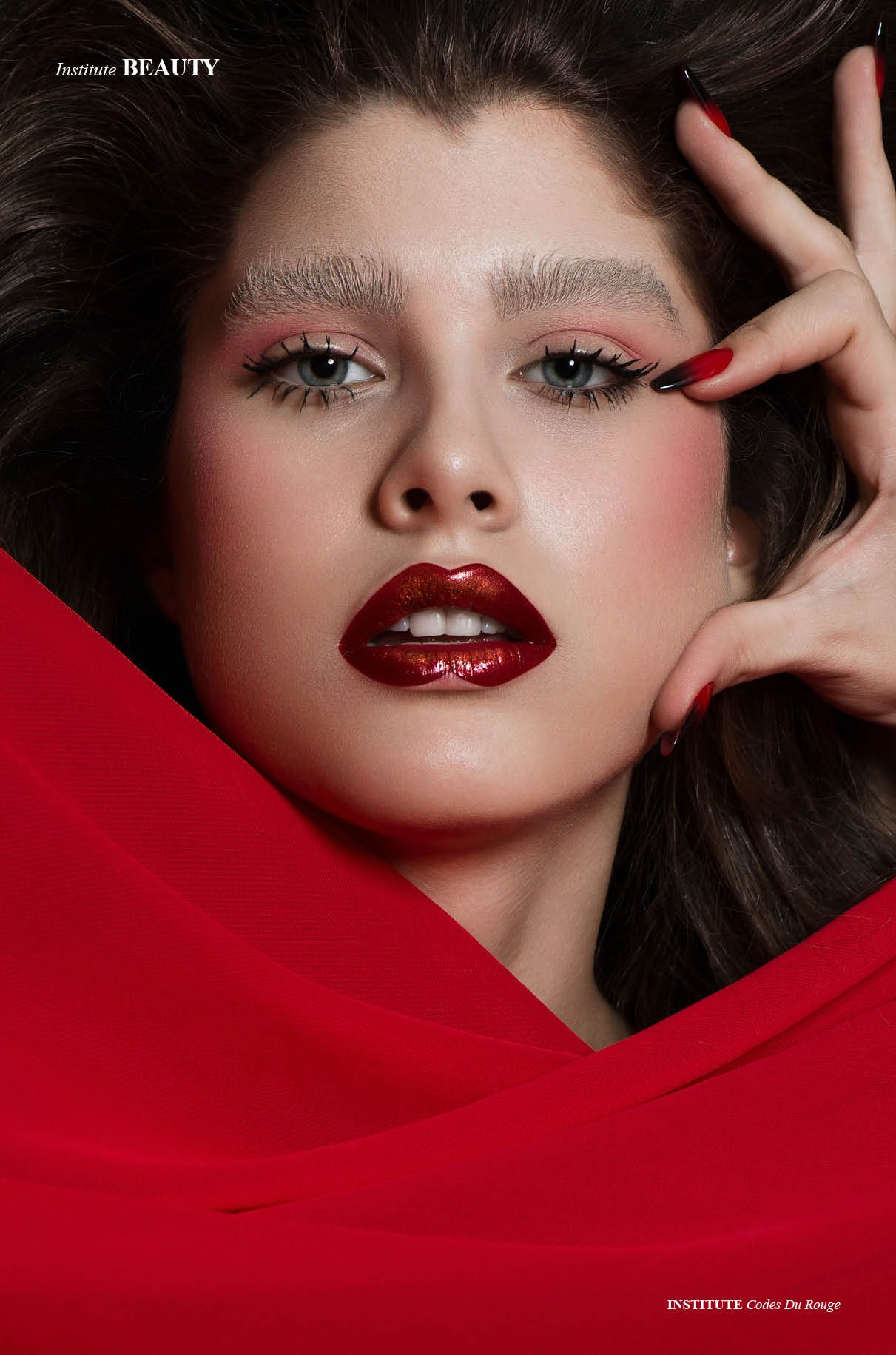 Codes Du Rouge Photographed by CĂLIN ANDREESCU Makeup