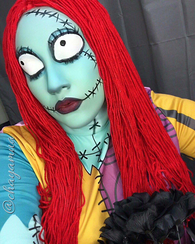 Sally makeup Nightmare before Christmas Makeup by