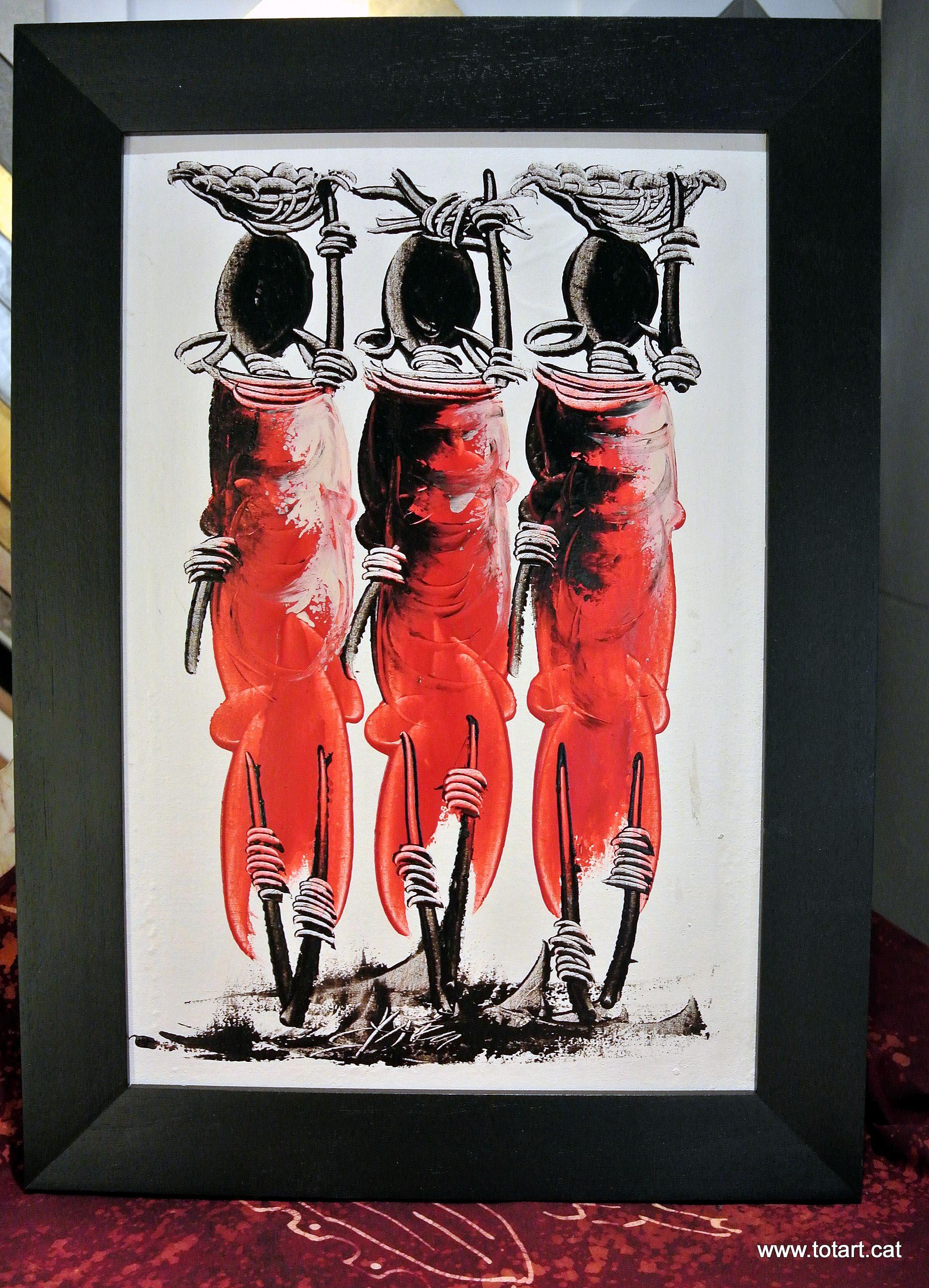 Tela de Tanzania enmarcada en tienda de marcos y cuadros de ...