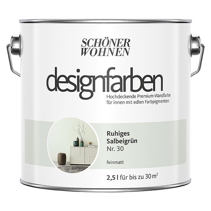 Schoner Wohnen Wandfarbe Designfarbe Ruhiges Salbeigrun 2 5 L Feinmatt In 2020 Schoner Wohnen Wandfarbe Wandfarbe Schoner Wohnen