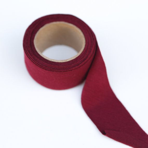 Maroon Knit Bias Tape by the Roll  1.25 inches by felinusfabrics
