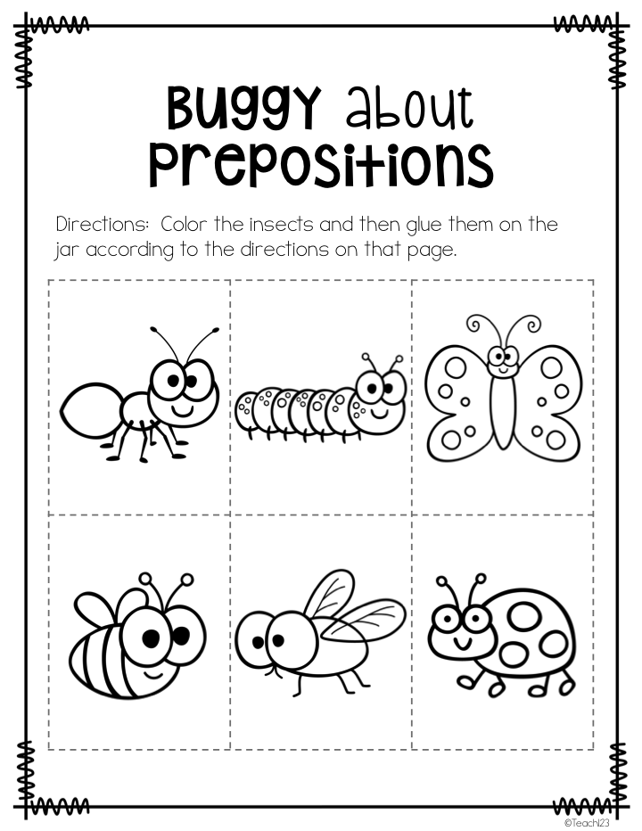 Busy P's Prepositions Prepositions, Elementary schools
