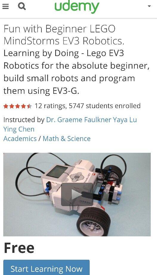 Free Mindstorm Course-Udemy https://www.udemy.com/fun-with-beginner ...