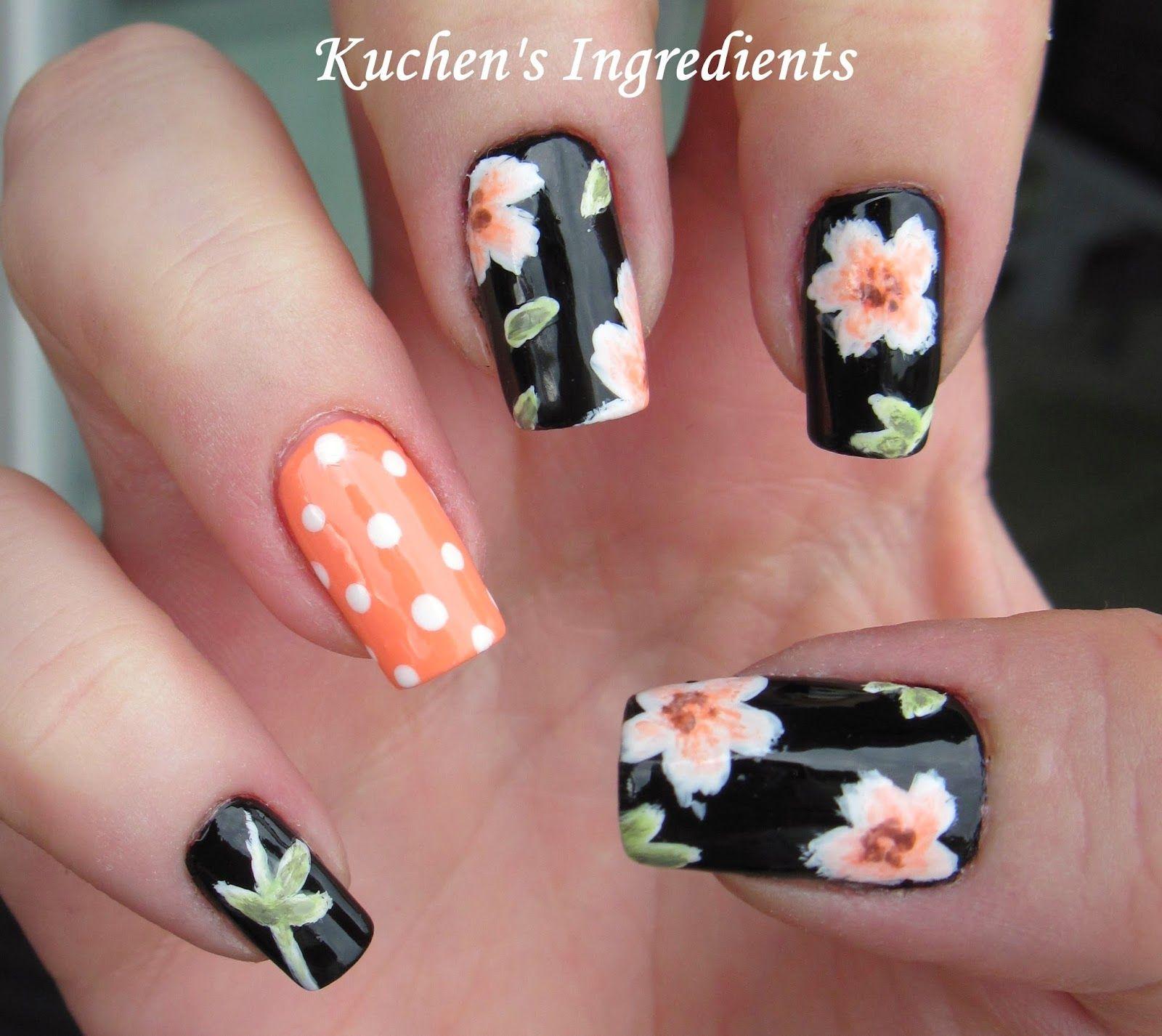 Kuchens ingredients: flowers nail design   Nails 2   Pinterest ...