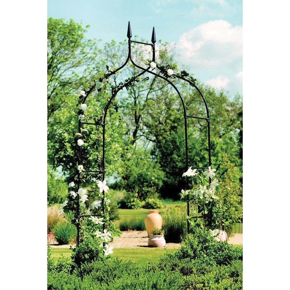 Gardman Gothic Arch Garden Arbor Trellis Flowers Garden Decor ...