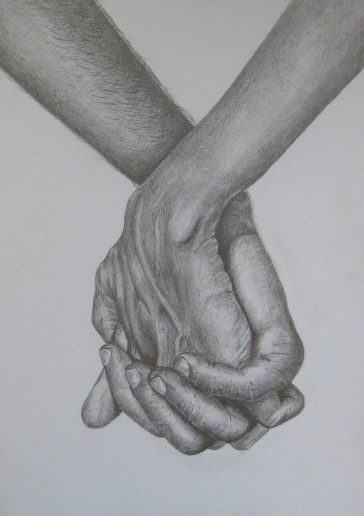 Live to draw holding hands pencil drawings of people holding hands