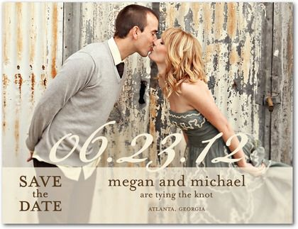 Sheer Script Clearance Save The Date Postcards In Almond Or Black Picturebook