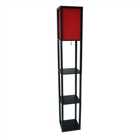 Threshold floor shelf lamp with ivory shade red includes cfl threshold floor shelf lamp with ivory shade red includes cfl bulb 6999 mozeypictures Gallery