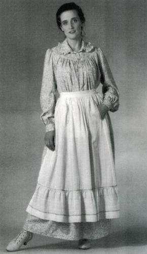 f0e85ecf8f Folkwear Historic 1800s Prairie   Pioneer Dress Apron Sewing Pattern  201
