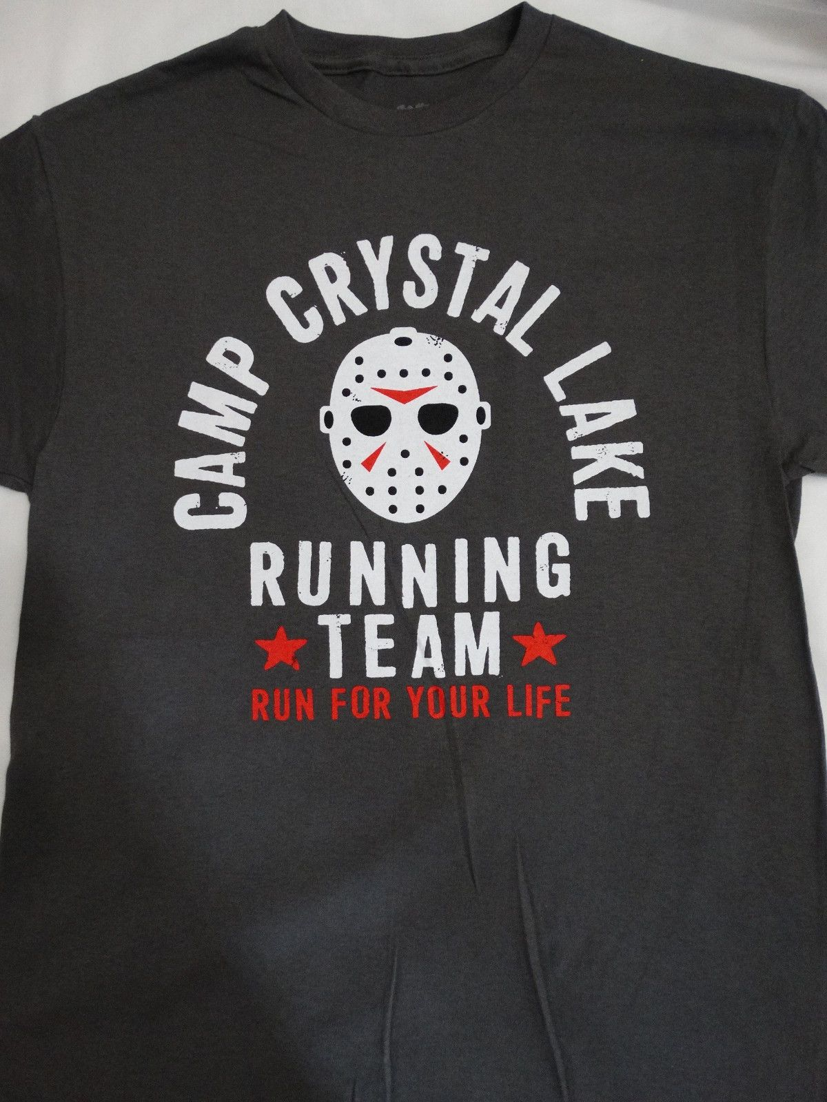 Friday The 13th Camp Crystal Lake Running Team Voorhees Charcoal