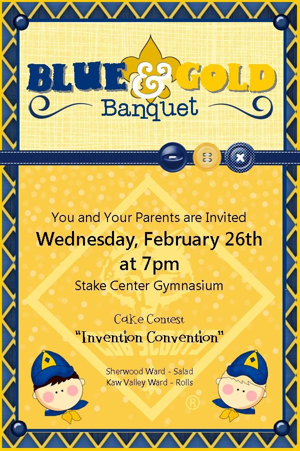 Blue and Gold Banquet Invite