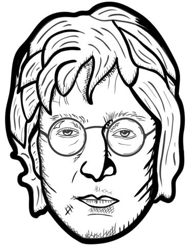 John Lennon Portrait Coloring Page John Lennon Coloring Pages Lennon