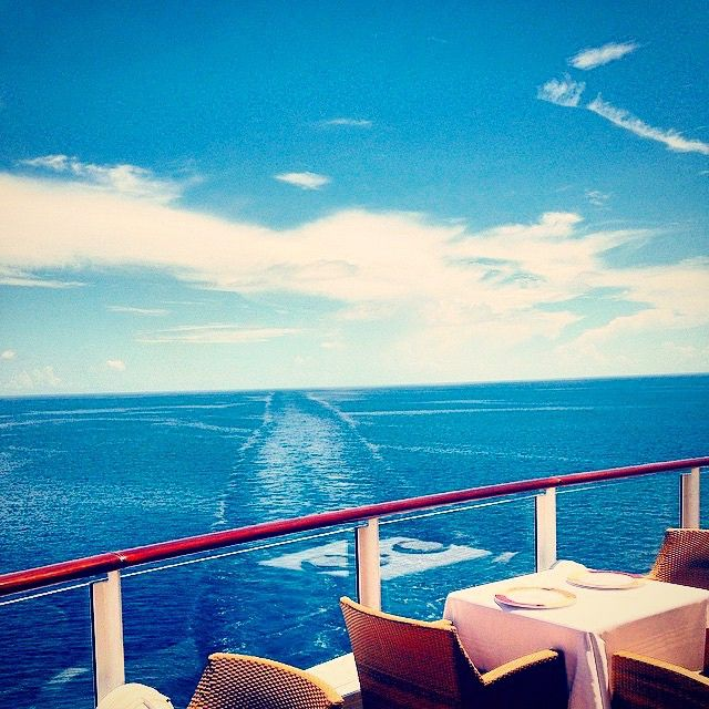 Wake view Wednesday. (Photo: @disneyprincessdiaries) #DisneyCruise