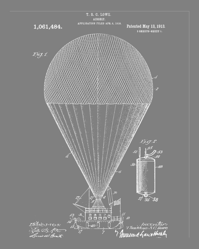1913 air balloon look fantastic when framed amtrak blueprints 1913 air balloon look fantastic when framed malvernweather Gallery