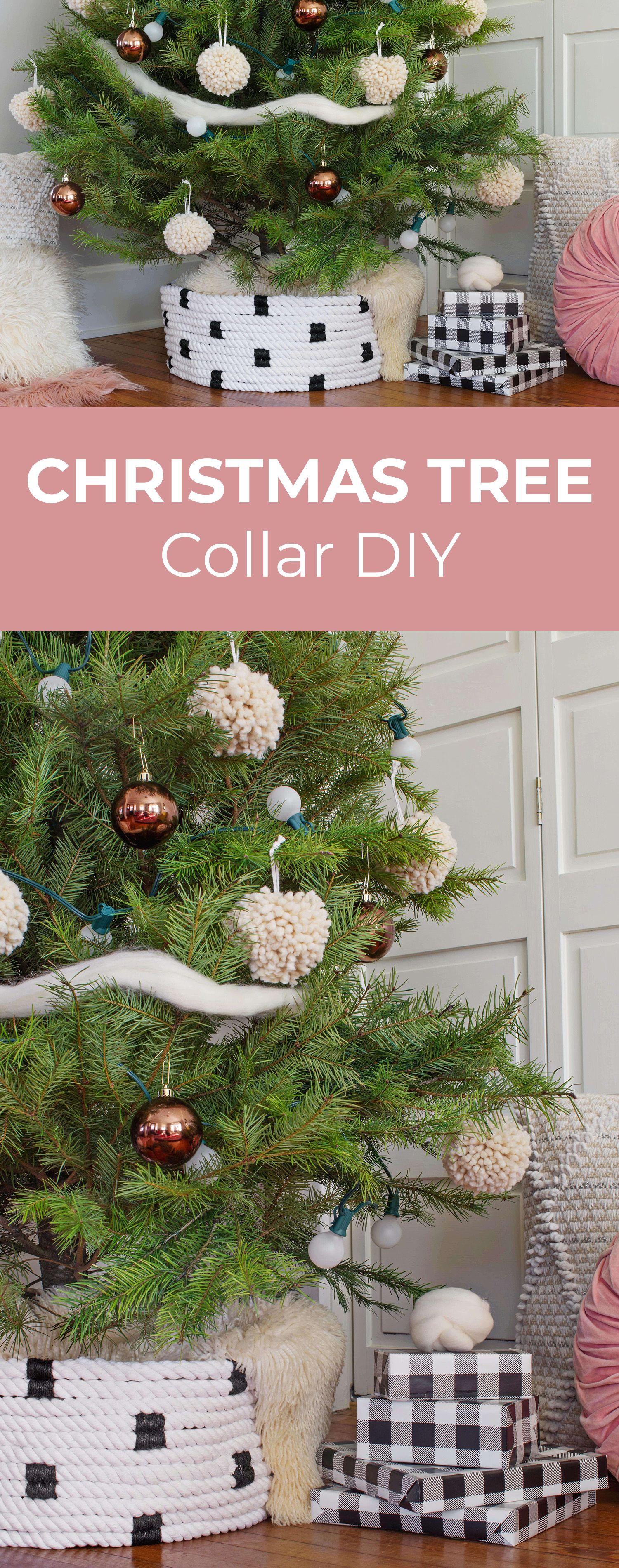 Rope Christmas Tree Collar Diy A Beautiful Mess Tree Collar Tree Collar Christmas Christmas Diy