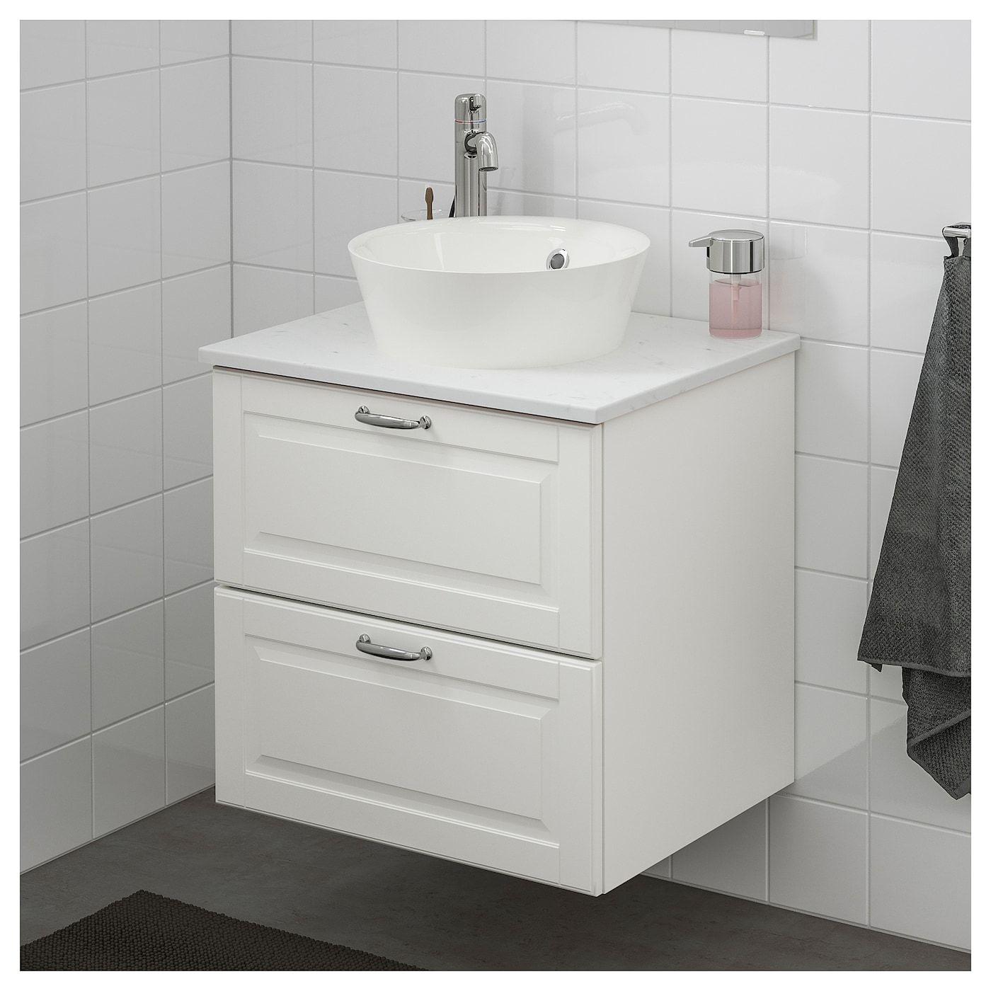 Ikea Godmorgon Tolken Kattevik Kasjon White Marble Effect